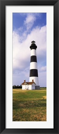 Framed Low angle view of a lighthouse, Bodie Island Lighthouse, Bodie Island, Cape Hatteras National Seashore, North Carolina, USA Print