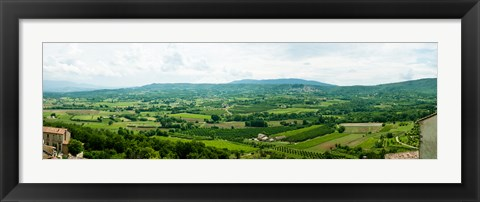 Framed High angle view of a field, Lacoste, Vaucluse, Provence-Alpes-Cote d'Azur, France Print