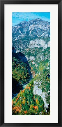 Framed Verdon Gorge in autumn, Provence-Alpes-Cote d'Azur, France Print