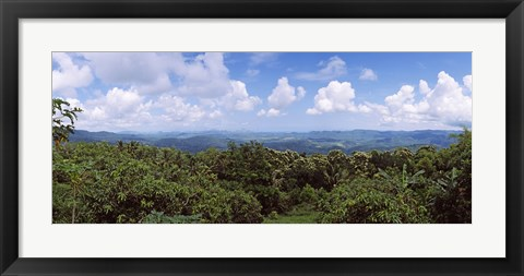 Framed Clouds over mountains, Flores Island, Indonesia Print