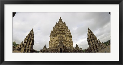 Framed Close Up of 9th century Hindu temple, Indonesia Print