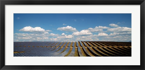 Framed Solar panels in a field, Provence-Alpes-Cote d'Azur, France Print
