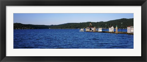Framed Jetty at Lake Coeur d'Alene, Idaho, USA Print