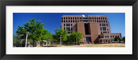 Framed Facade of a government building, Pete V.Domenici United States Courthouse, Albuquerque, New Mexico, USA Print