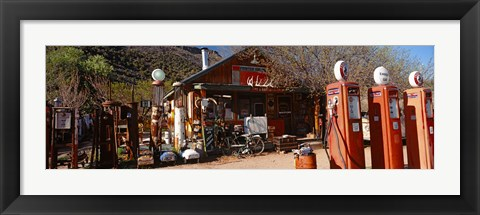 Framed Old Frontier Gas Station, Embudo, New Mexico Print