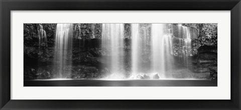 Framed Waterfall in a forest, Llanos De Cortez Waterfall, Guanacaste Province, Costa Rica Print