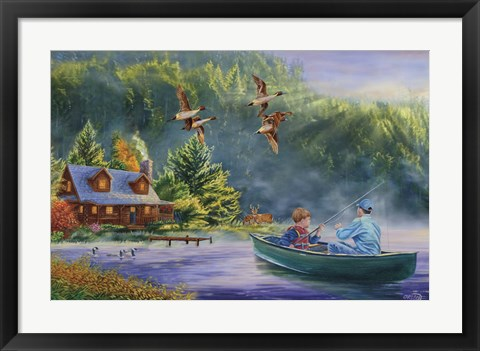Framed Gone Fishin Print