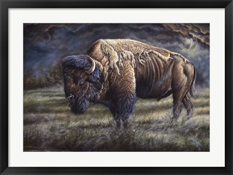 Framed Spirit Of The Plains (Bison) Print
