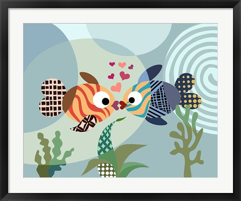 Framed Love Fish Print