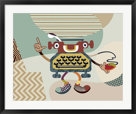 Framed Retro Typewriter I Print