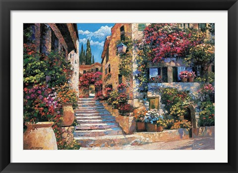 Framed Riviera Stairs Print
