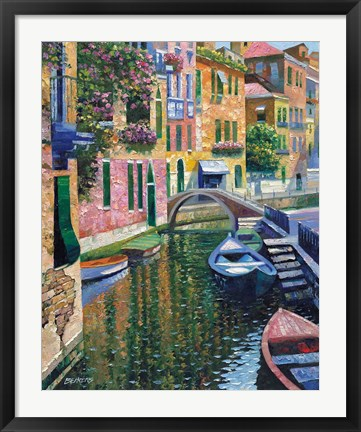 Framed Romantic Canal Print