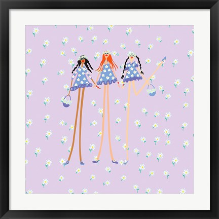Framed Flower Girls Print