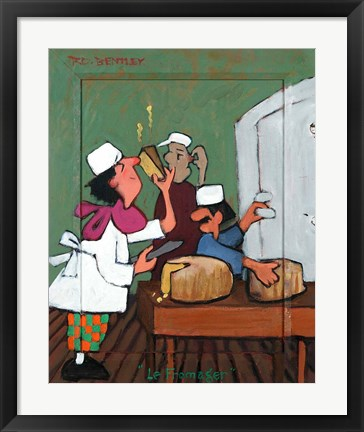 Framed Le Fromager Print