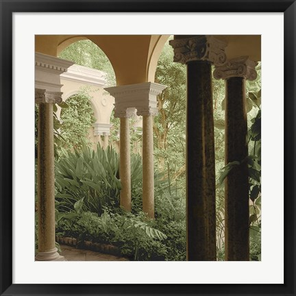 Framed Jardin Portique No. 2 Print