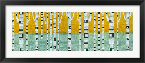 Framed Birches in Early Winter Print