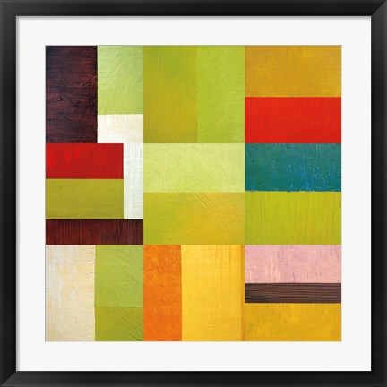 Framed Color Study Abstract 1 Print
