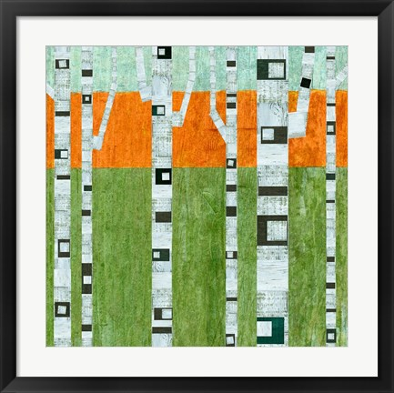 Framed Spring Birches Print