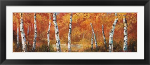 Framed Autumn Birch I Print