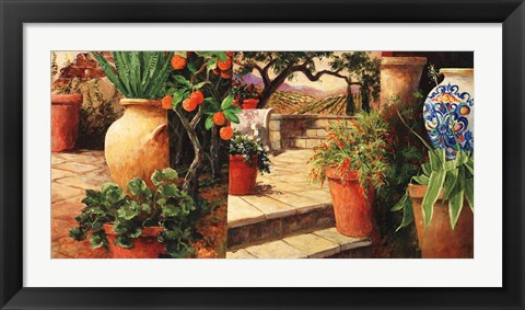 Framed Turo Tuscan Orange Print