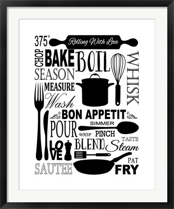 Framed Culinary Love 1 Print