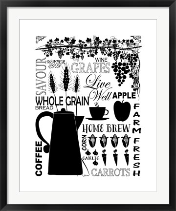 Framed Culinary Love 2 Print