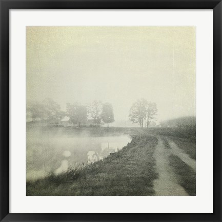 Framed Foggy Sunrise Print