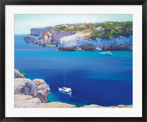 Framed Cala Llombards Print