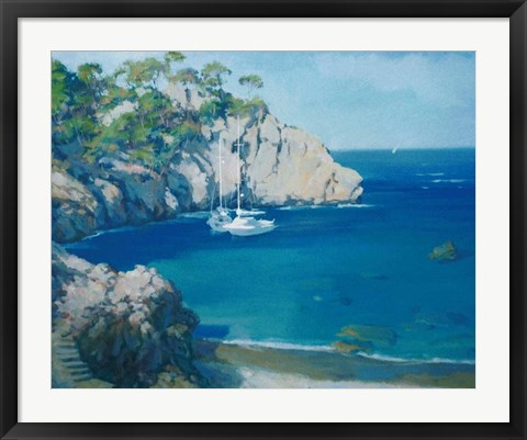 Framed Cala Secreta Print