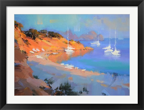 Framed Evening Boats Print