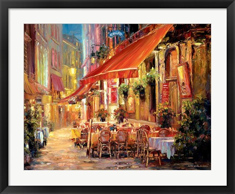 Framed Cafe in Light Print