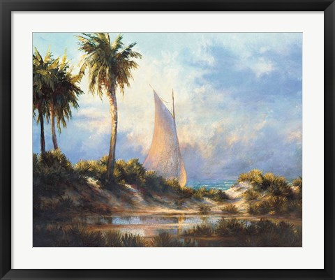 Framed Manasota Key Returning Print
