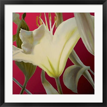 Framed Lily Red Print