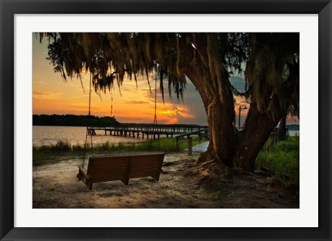 Framed Savannah Sunset Print