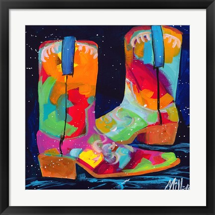 Framed Dueling Boots Print
