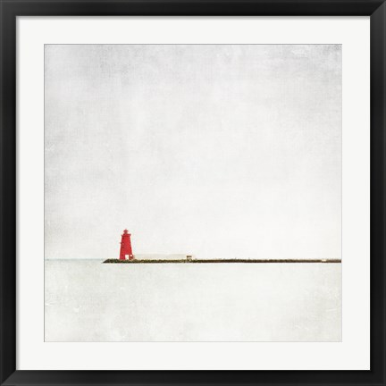 Framed Meet Me at the Red Lighthouse Print