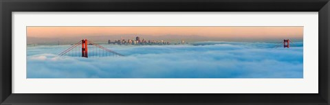 Framed Foggy City Print