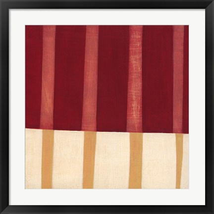 Framed Broken Stripes 4 Print