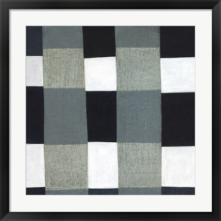 Framed Gray Plaid 1 Print
