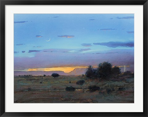 Framed High Mesa Rainstorm Print