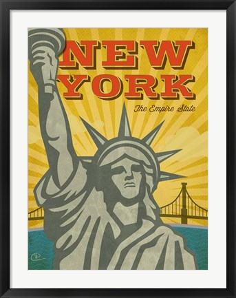 Framed New York - The Empire State Print