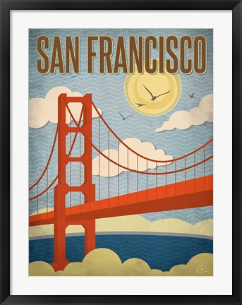 Framed San Francisco - Golden Gate Bridge Print