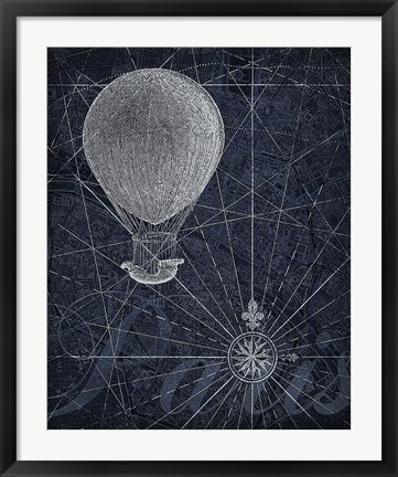 Framed Hot Air over Paris I Print