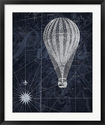 Framed Hot Air over Paris II Print