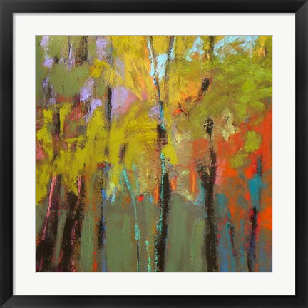 Framed Trees Three Print