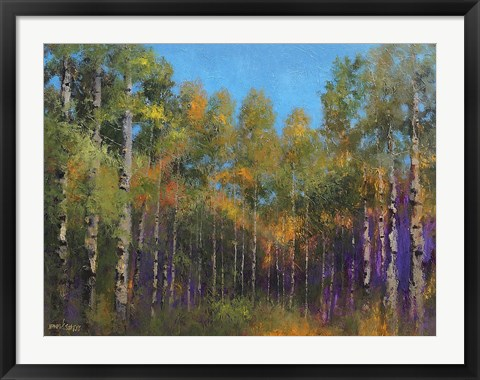 Framed Aspen Autumn Print