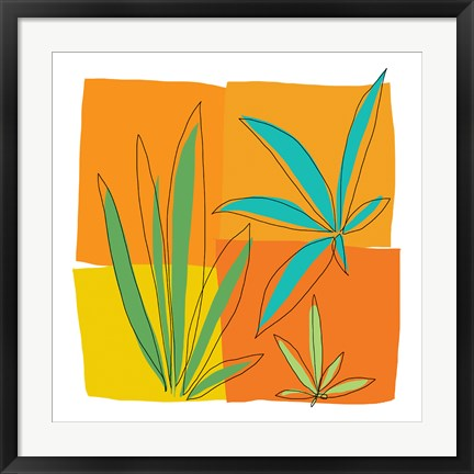 Framed Grasses II Print