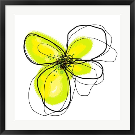 Framed Yellow Petals One Print