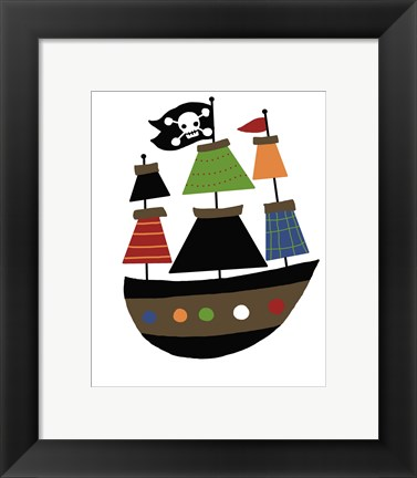 Framed Pirate Ship Print