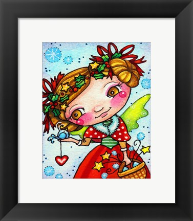 Framed Holly and Snow Print